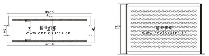 e型铝合金插箱cad示意图